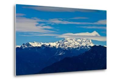 The Rugged Snow and Ice Covered Peak of Mount Kula Kangri, the Highest Mountain in Bhutan-Jason Edwards-Metal Print