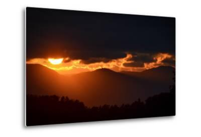Sunset over the Blue Ridge Mountains-Amy White and Al Petteway-Metal Print
