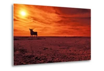 Toro De Osborne, an Unofficial National Symbol of Spain, First Created in 1956 by Manolo Prieto-Kike Calvo-Metal Print