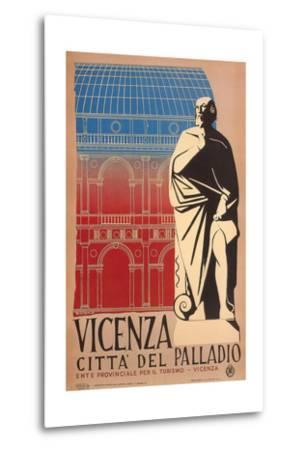 Travel Poster for Vicenza--Metal Print
