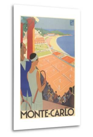 Travel Poster for Monte Carlo--Metal Print