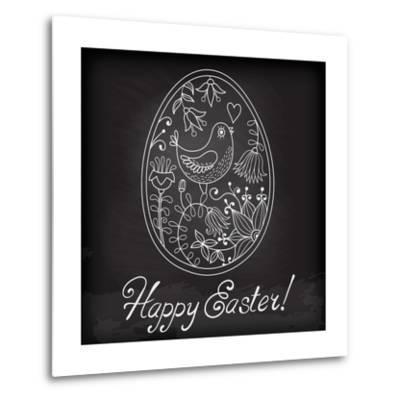 Easter Egg Drawn by Hand-Baksiabat-Metal Print