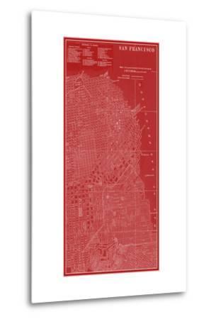 Graphic Map of San Francisco-Vision Studio-Metal Print