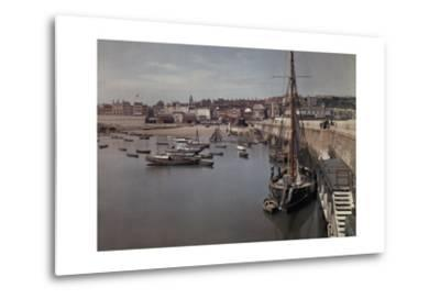 A View of the Harbor in the Resort Town of Ramsgate-Clifton R^ Adams-Metal Print