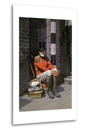A War Veteran Sells Matches on the Street-Clifton R^ Adams-Metal Print
