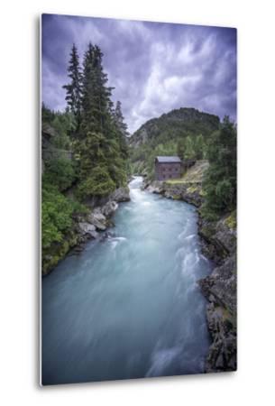 Norway River-Philippe Manguin-Metal Print