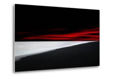 Red Lines-Philippe Sainte-Laudy-Metal Print