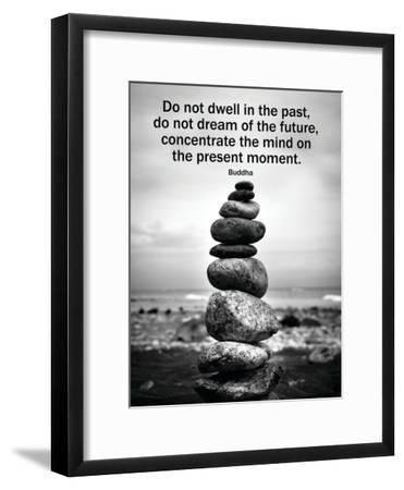 Buddha Focus Quotation Motivational Poster--Framed Poster