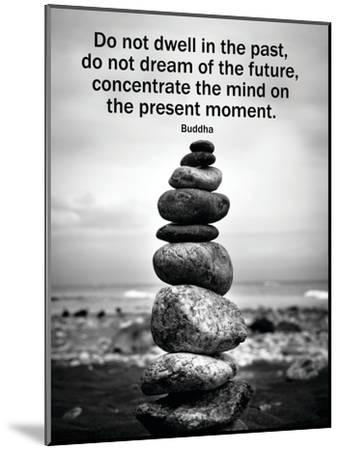 Buddha Focus Quotation Motivational Poster--Mounted Poster