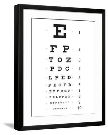 Eye Chart 10-Line Reference Poster--Framed Poster