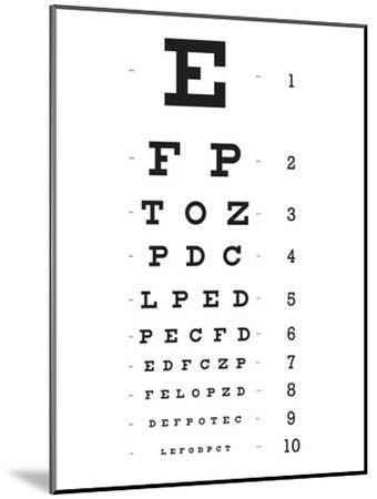Eye Chart 10-Line Reference Poster--Mounted Poster