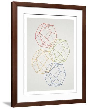 Geometric Pop Art--Framed Poster