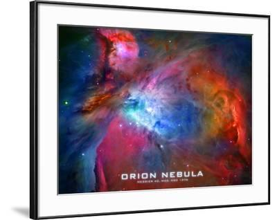 Orion Nebula Text Space Photo Poster Print--Framed Poster