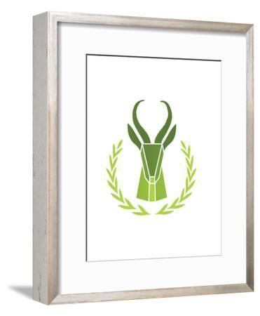 Paper Taxidermy Gazelle--Framed Poster