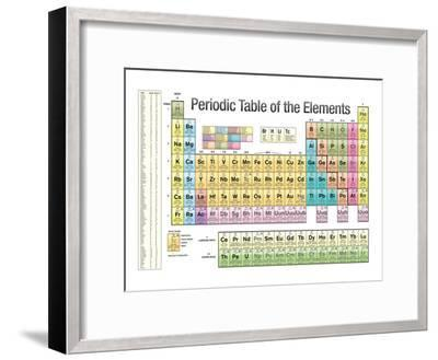 Periodic Table of the Elements White Scientific Chart Poster Print--Framed Poster