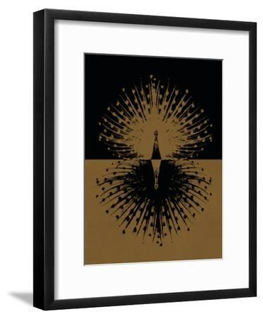 Gold and Black Peacock--Framed Poster