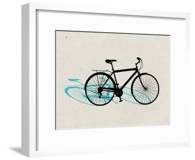 Beach Bike Pop Art--Framed Poster