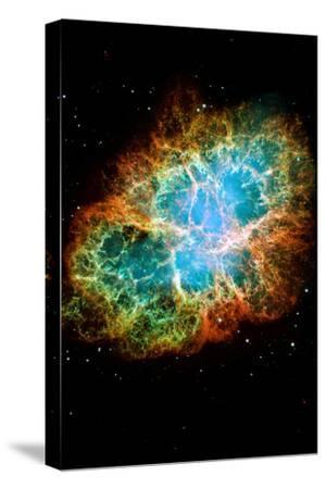 Crab Nebula Space Photo--Stretched Canvas Print