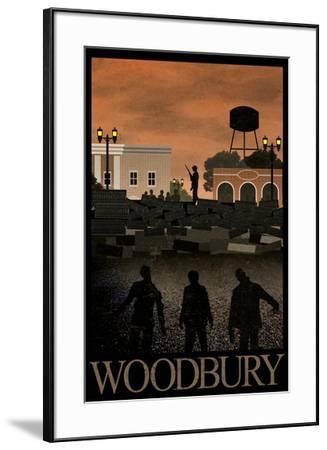 Woodbury Retro Travel Poster--Framed Poster