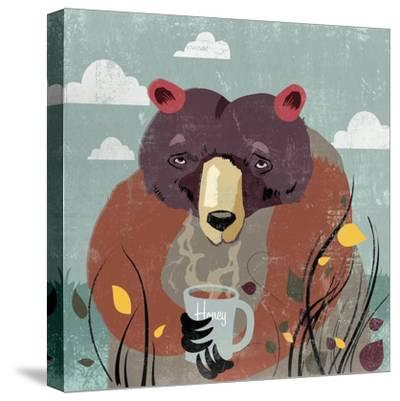 Honey bear-Anna Polanski-Stretched Canvas Print
