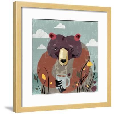 Honey bear-Anna Polanski-Framed Art Print