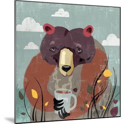 Honey bear-Anna Polanski-Mounted Art Print