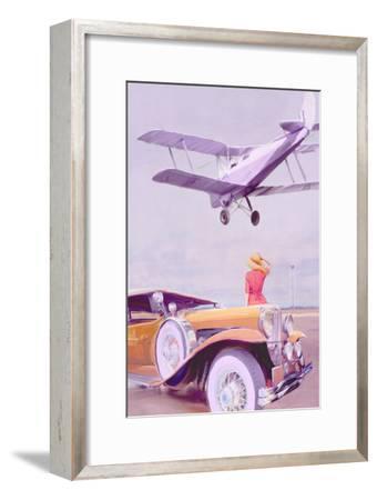 Vintage Airport-Anna Polanski-Framed Art Print