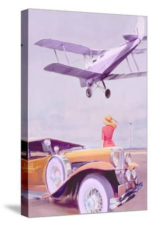 Vintage Airport-Anna Polanski-Stretched Canvas Print