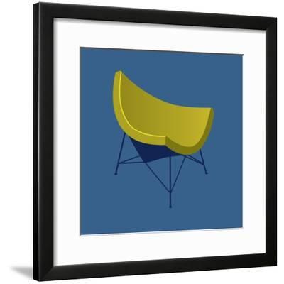 Mid Century Chair I--Framed Art Print
