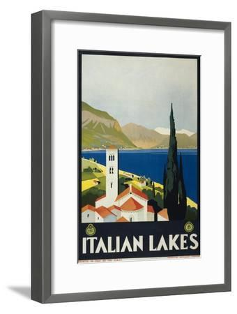 Italian Lakes--Framed Art Print