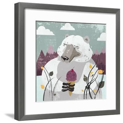 Polar Bear-Anna Polanski-Framed Art Print