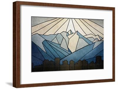 Geometric Mountain-Anna Polanski-Framed Premium Giclee Print