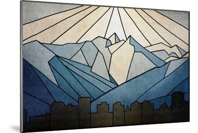 Geometric Mountain-Anna Polanski-Mounted Premium Giclee Print
