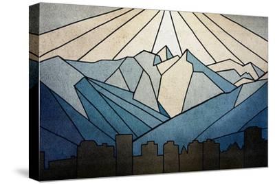 Geometric Mountain-Anna Polanski-Stretched Canvas Print