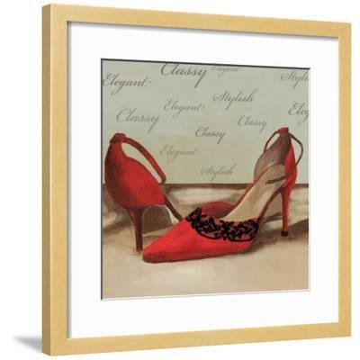 Red Pumps-Anna Polanski-Framed Art Print
