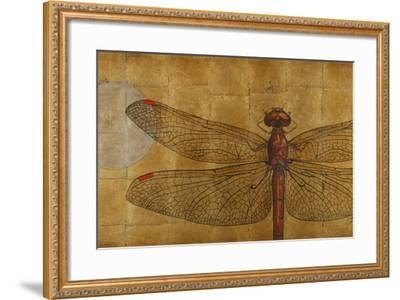 Dragonfly on Gold-Patricia Pinto-Framed Premium Giclee Print
