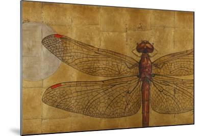 Dragonfly on Gold-Patricia Pinto-Mounted Premium Giclee Print