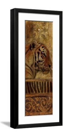 Elegant Safari Panel II (Tiger)-Patricia Pinto-Framed Premium Giclee Print