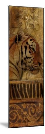Elegant Safari Panel II (Tiger)-Patricia Pinto-Mounted Premium Giclee Print