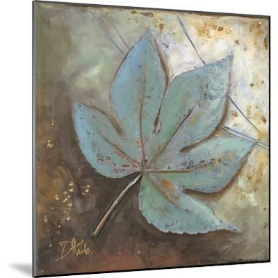 Turquoise Leaf II-Patricia Pinto-Mounted Premium Giclee Print