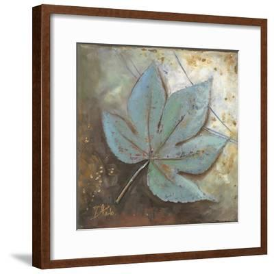 Turquoise Leaf II-Patricia Pinto-Framed Premium Giclee Print