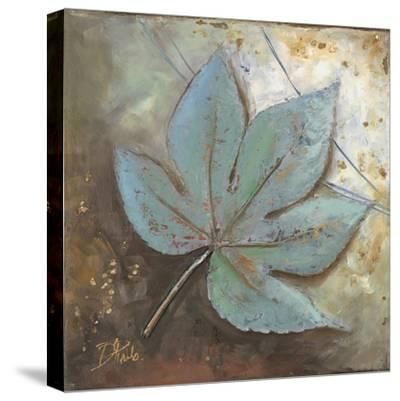 Turquoise Leaf II-Patricia Pinto-Stretched Canvas Print