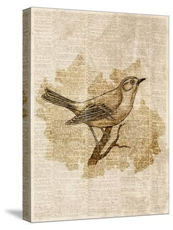 Vintage Bird II--Stretched Canvas Print