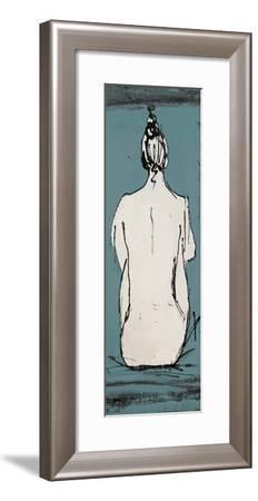 Nude Sketch on Blue II-Patricia Pinto-Framed Premium Giclee Print