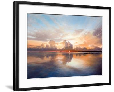 Sunset over Lake-Bruce Nawrocke-Framed Premium Giclee Print