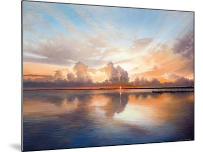 Sunset over Lake-Bruce Nawrocke-Mounted Premium Giclee Print