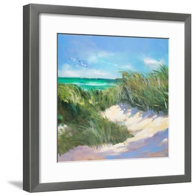 Blue Grass Breeze I-Jane Slivka-Framed Premium Giclee Print