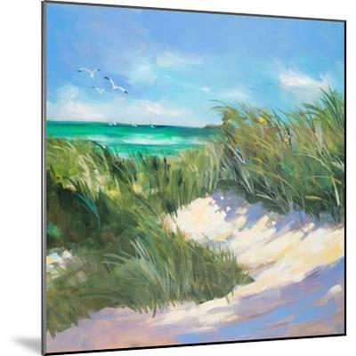 Blue Grass Breeze I-Jane Slivka-Mounted Premium Giclee Print