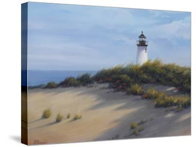 Lighthouse on the Shore-Vivien Rhyan-Stretched Canvas Print