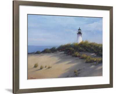 Lighthouse on the Shore-Vivien Rhyan-Framed Premium Giclee Print